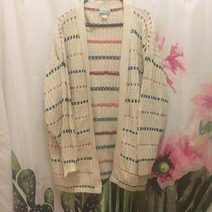 Vintage Striped Cream Cardigan